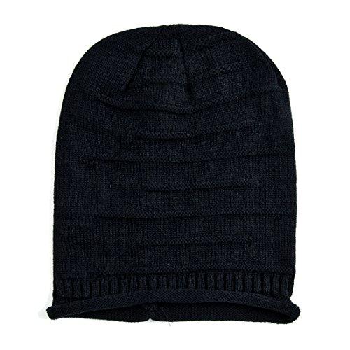 Slouchy Knit Beanie, KeepSa 2017 Brandnew Womens Beanie Moda Mujer sombreros, gorros de invierno suave caliente Gorro de punto negro