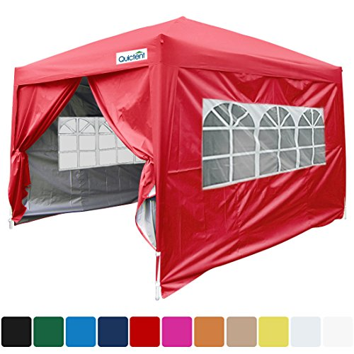 Farmers Market Stall - Quictent Silvox 10x10 EZ Pop Up Canopy Tent Camping Tent/Party Tent/Commercial Tent Gazebo 8.7 ft Height Red