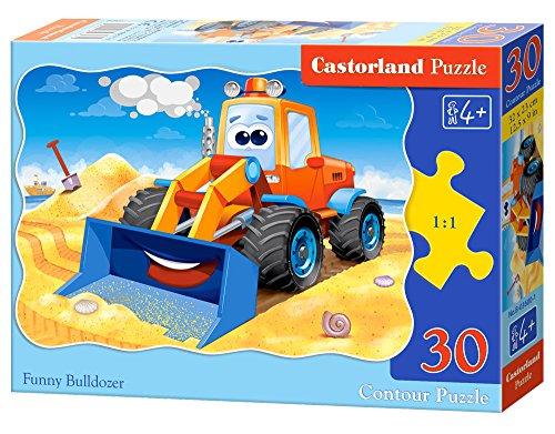 Castorland - B-03600-1 - Puzzle - Bulldozer Drôle - 30 Pièces