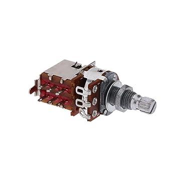 Zophor (TM) B500 K Guitarra Eléctrica Potenciómetro Push Pull interruptor de control de volumen potenciómetro de olla Pomos de macetas de Split Shaft ...