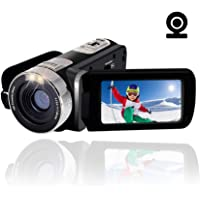 Camcorder Video Camera Full HD 1080p camcorder 24.0MP 16X Digital Zoom 270 Degree Rotation With Webcam Pause Function