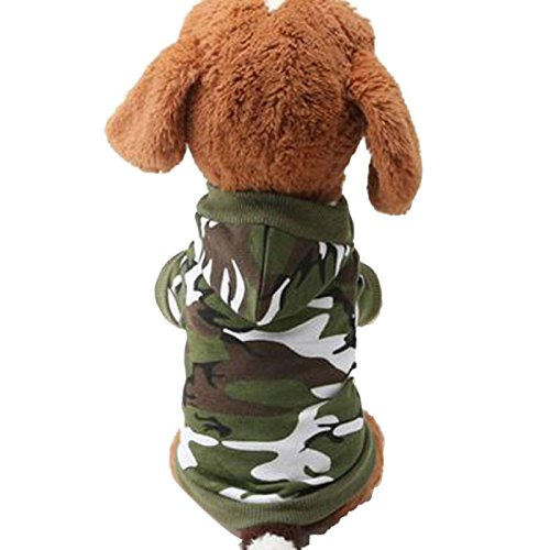 Alalaso New Dog Clothing Pet Sweatshirt Camo Camouflage Coats Hoodies Costume Apparel (L, A)