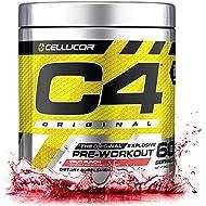 Cellucor C4 Original Pre Workout Powder Energy Drink Supplement For Men & Women with Creatine, Caffeine, Nitric Oxide Booster, Citrulline & Beta Alanine, Fruit Punch, 60 Servings