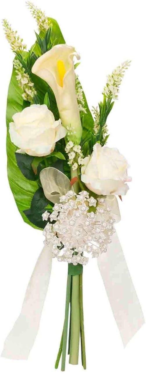 CC Bautizos Cesta Floral Artesanal Decorativo de Novia para Alfileres Joyas y Bisuter/ía Detalles de Bodas Complementos Comuniones Regalos Originales