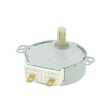 sourcingmap® AC 220V/240V CW/CCW 4W Horno Microondas Tocadiscos giratorio del motor