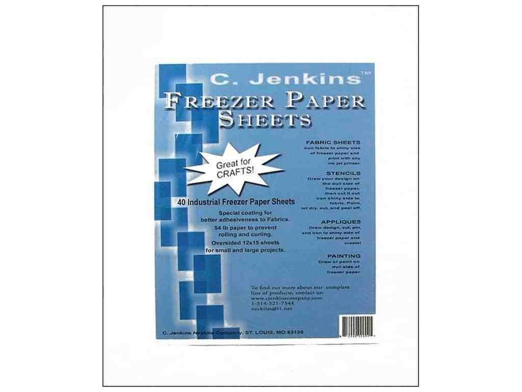 Freezer Paper Sheets -12''X15'' 40/Pkg 1 pcs sku# 644468MA by Jenkins Enterprises