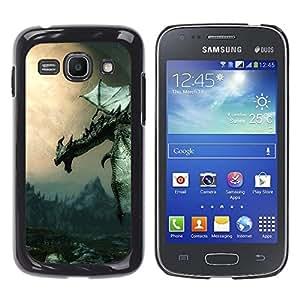 EJOY---Cubierta de la caja de protección la piel dura para el / Samsung Galaxy Ace 3 / --Antiguo Flying Dragon
