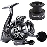 Sougayilang Fishing Reel 13+1BB Light Weight Ultra Smooth Aluminum Spinning Fishing Reel with Free Spare Graphite Spool …