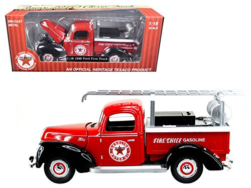 NEW 1:18 BEYOND INFINITY COLLECTION - TEXACO RED 1940 FORD FIRE TRUCK Diecast Model Car By Beyond Infinity - Ford 1940 Truck