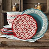 The Pioneer Woman Betsy Mix and Match 12-Piece Dinnerware Set For Sale