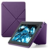 "Amazon Kindle Fire HD Standing Polyurethane Origami Case (will only fit All New Kindle Fire HD 7""), Purple"
