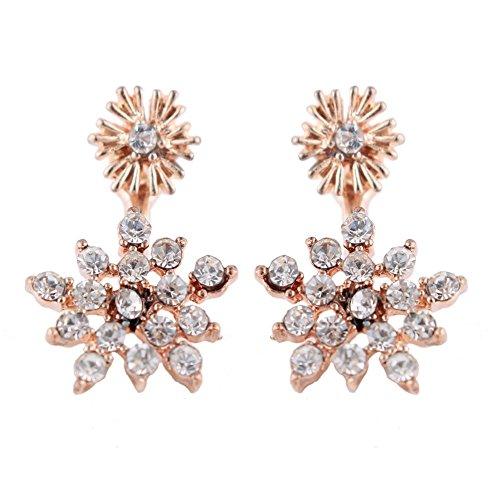 New Style Petit Mignon fleur Boucles d'oreilles Accessoires pour femmes Bijoux-d'or