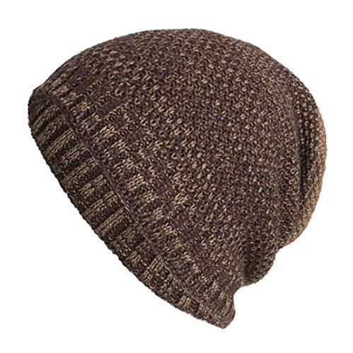 Sunny&Love 2018 Unisex Warm Baggy Weave Crochet Winter Wool Knit Ski Hat Skull Caps (Khaki) ()