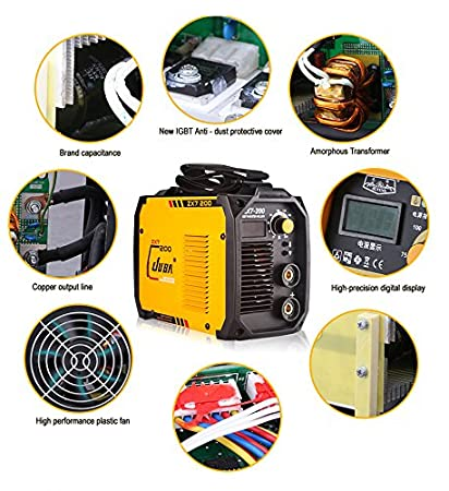 Enbeautter Whole Copper MINI Welder 170V-260V IGBT Portable Welding Inverter MMA ARC ZX7-200 Welding Machine (USZX7-200mini) - - Amazon.com