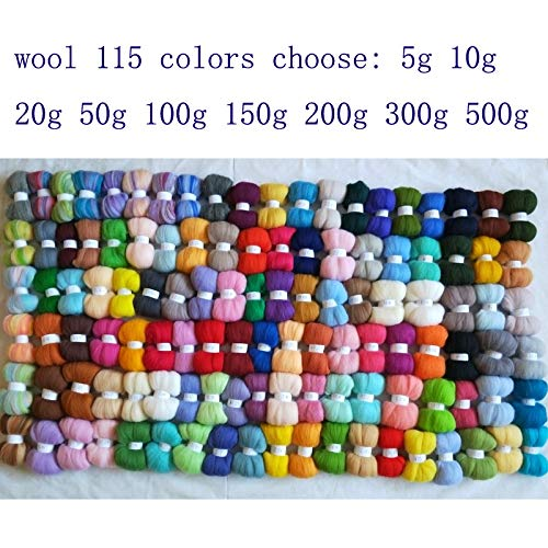 Maslin Felt 50g 100g 150g 200g 300g 500g Wool for Needle Felting Set Doll Merino Wool roving Sheep Wool Fiber DIY crafa - (Color: Order8 1150g)