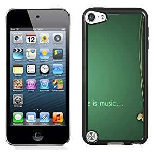 New Beautiful Custom Designed Cover Case For iPod 5 With Life Is Music Phone Case