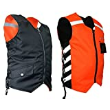 Missing Link Military Duty Reversible Safety Vest (Black/Orange, Small)