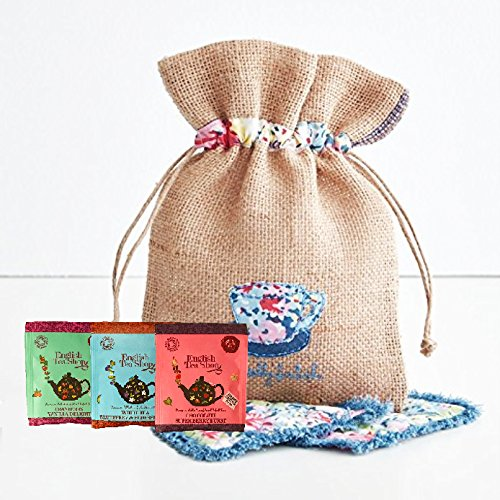English Tea Shop variety 80 TEA BAGS by The Yummy Palette | English Tea Shop variety English Tea Shop Sampler English Tea Shop white tea blueberry and more packed in Basically British Burlap Bag