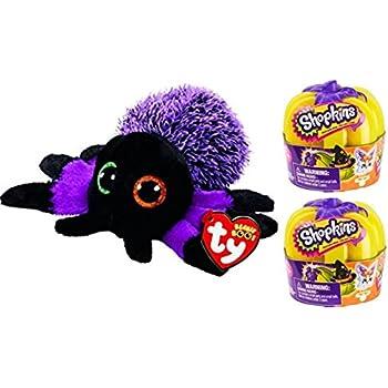63eea77f176 Ty Beanie Boos Creeper Spider PLUS 2 Shopkins Glow in the Dark Pumpkins