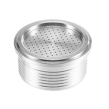 OurLeeme Cápsula de café recargable, taza de filtro de café reutilizable de acero inoxidable para la máquina de café Lavazza para herramientas de vainas de ...