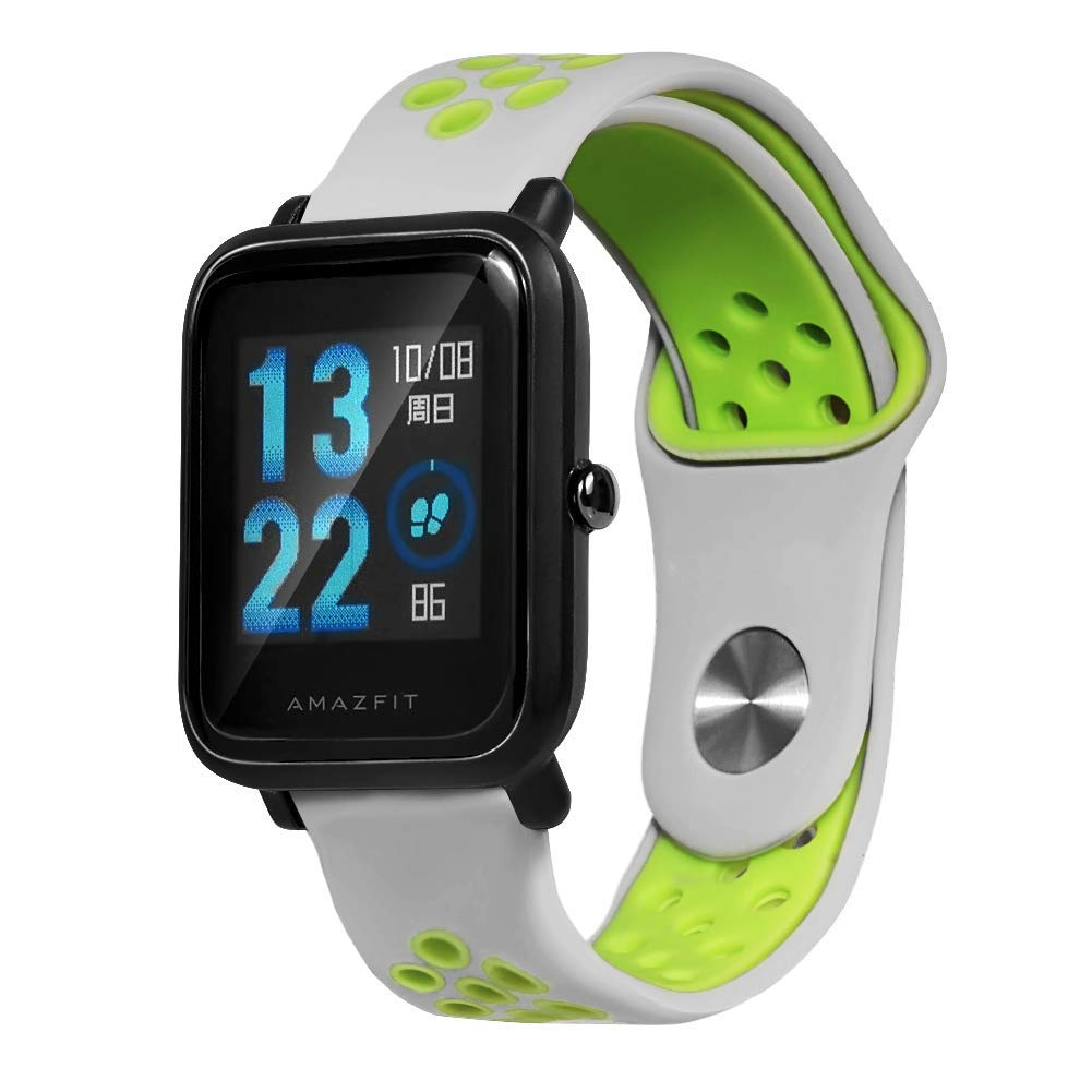 Saisiyiky Correa para Amazfit Bip Youth - 20mm Silicona Correa de Repuesto para Galaxy Watch, Gear S2 Classic, Huawei Watch 2