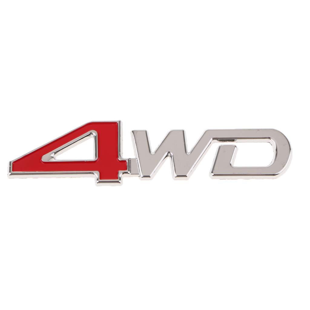 Homyl Universal Car SUV Body Fender Trunk Zinc Alloy 3D ''4WD''Logo Sticker by Homyl (Image #5)