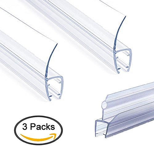 - Frameless Shower Door Seal Strip, Weather Stripping Seal Sweep with Drip Rail for 3/8-Inch Glass (39'' Long) J+H-Type