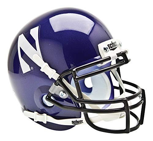 Schutt Sports NCAA Nortwestern Wildcats Mini Authentic Football Helmet, - Northwestern Mini Helmet Authentic Wildcats