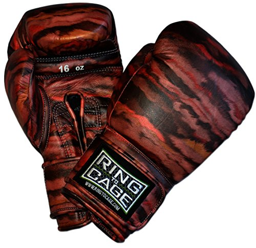 Ring to Cage Custom Japanese-Style Training Boxing Gloves - Sunset (Lace-up 16oz)