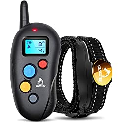 Patpet Pro Dog Training Collar, Waterproof IPX7 Rechargeable Shock Collar for Dogs, Long Remote Range 1600', Ergonomic Design Easy to Use, Beep Vibration Shock Mode E Collar for Small Large Medium Dog