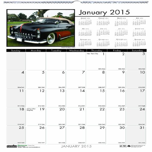 Doolittle Classic Cars - House of Doolittle 3771 Classic Cars Monthly Wall Calendar, 12 x 12, 2015