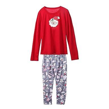 d3af4674726b7 UFACE Pyjama Ensemble Noel Famille Père Noël Mère Garçon Fille du  Nouveau-né Bébé Pyjamas