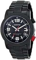 red line Men's RL-50043-BB-11 Octane Analog Display Japanese Quartz Black Watch