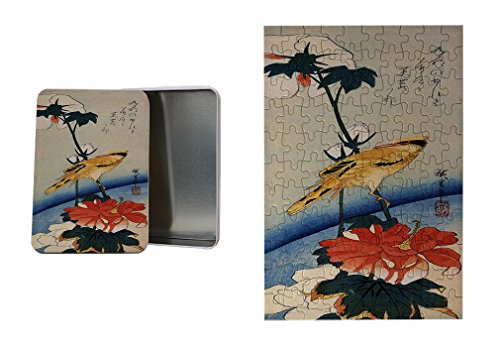 Style in Print Golden Oriole Hibiscus Branch (Hiroshige) Metal Trinket Box (4