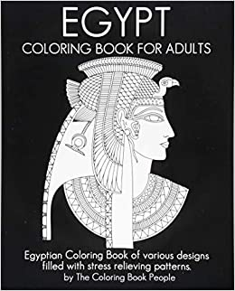 Egypt Coloring Book For Adults: Egyptian Coloring Book of various ...