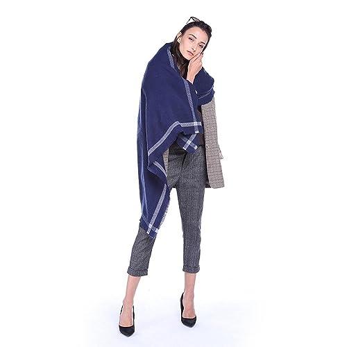 Le sciarpe delle nappe delle sciarpe di aria calda di stampa etnica dell'annata della sciarpa di colore solido di temperamento di nuovo temperamento di modo , 4