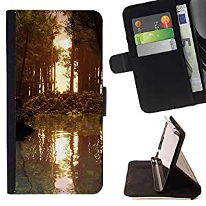 Momo Phone Case / Flip Funda de Cuero Case Cover - Naturaleza Forrest Sun - LG OPTIMUS L90