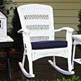Tortuga Outdoor Plantation Wicker Rocking Chair For Sale
