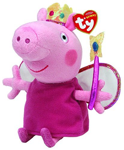 Official Ty Beanie Babies Peppa Pig: Princess - Pig Baby Beanie Stuffed