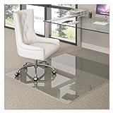 deflecto Premium Glass Chair Mat, 48 x 60, Clear