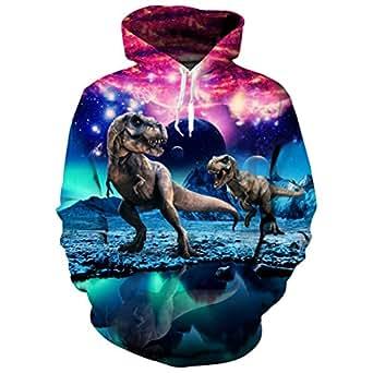 Uideazone Unisex 3D Printed Hooded Sweatshirt Casual Pullover Hoodie with Big Pockets,Pumpkin 31,Large