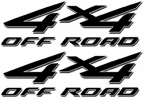 4x4 Off Road Decals (Black) - 2002 to 2008 Ford