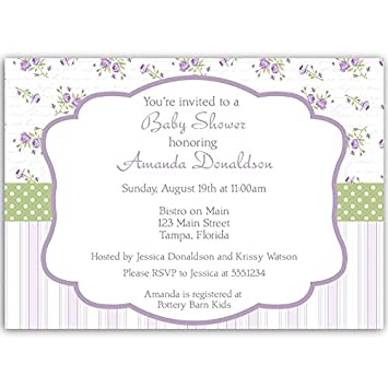 Amazon baby shower invitations girl stripes lavender purple baby shower invitations girl stripes lavender purple sage green filmwisefo