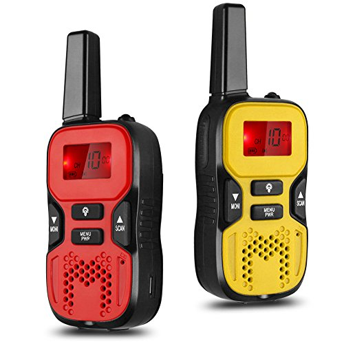 Flexzion Kids Handheld Walkie Talkie - 22 Channel GMRS/PMR/FRS 2 Way Radio Transceiver 2 Miles (Up to 3 Mile) UHF Call Wireless Phone Interphone Electronic Toy for Kids Outdoor Camping - Running Malaysia Gear