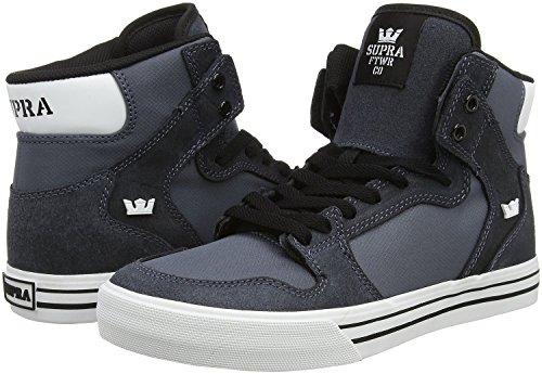 Supra VAIDER S28058 - Zapatillas de deporte de cuero para hombre gris oscuro