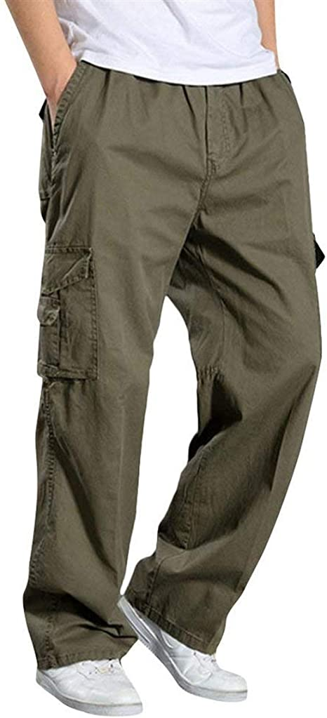 Pantalones De Hombre Pantalones De Algodón De Carga Recta Vintage ...