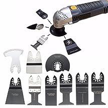 BABAN 12Pcs Mixed Oscillating Multitool Saw Blades Set Fits Bosch, Fein,Black and Decker, Chicago, Craftsman Bolt-on, Dewalt