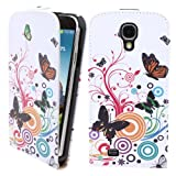 LliVEER Samsung i9190 Lovely Colourful Butterfly Flower Up And Down Flip PU Leather Case for Samsung Galaxy i9190 S4 Mini