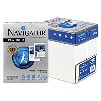 Navigator : Platinum Office Paper, 99 Brightness, 24lb, Letter, White, 2,500 Sheets -:- Sold as 1 CT