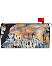 IOAOAI Mailbox Covers Magnetic Post Box Protector for Outdoor Garden Home DÃcorLandscape Sunset Sky Summer